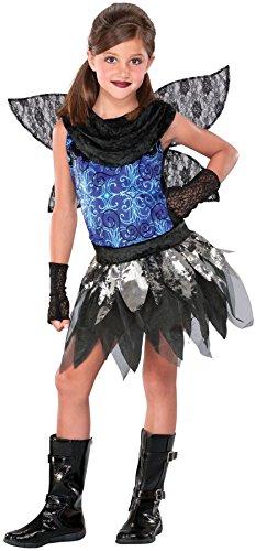 Seasons Twilight Fairy 3pc Child Costume, Blue Black, Medium 8-10