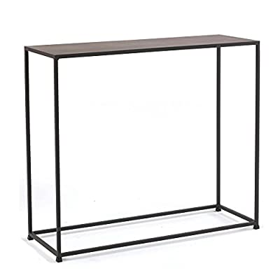tag - Urban Console Table, A Perfect Addition to Any Home, Mild Steel Top with Coco Finish - Constructed with solid steel rods and steel plate tops Features a beautiful and durable powder coat finish in coco color Sleek design is well suited for smaller spaces - living-room-furniture, living-room, console-tables - 41bOc4THcVL. SS400  -