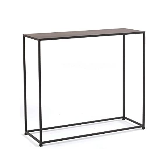 tag - Urban Console Table, A Perfect Addition to Any Home, Mild Steel Top with Coco Finish - Constructed with solid steel rods and steel plate tops Features a beautiful and durable powder coat finish in coco color Sleek design is well suited for smaller spaces - living-room-furniture, living-room, console-tables - 41bOc4THcVL. SS570  -