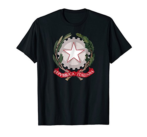 Italy T-shirt Coat of arms Tee Flag souvenir Italian -