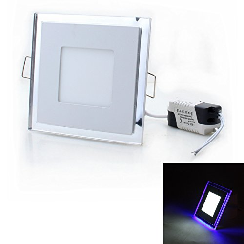 20W 1200lm 6500K 92-LED White + Blue Light Square Flat Lamp (AC 85~265V) by OLSUS
