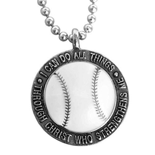 Forgiven Jewelry Baseball Necklace I Can Do All Things Through Christ