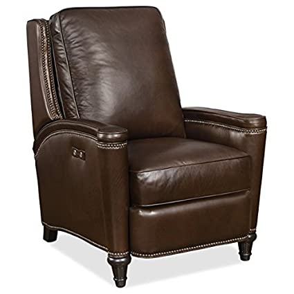 Tremendous Amazon Com Hooker Furniture Rylea Leather Power Recliner In Creativecarmelina Interior Chair Design Creativecarmelinacom