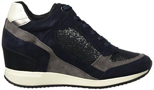 Geox D Nydame a, Zapatillas Altas para Mujer Azul (BLACK/NAVYC4429)