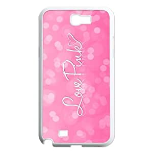 HXYHTY Diy Phone Case Love Pink Pattern Hard Case For Samsung Galaxy Note 2 N7100