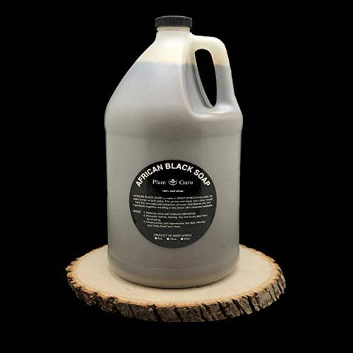 African Black Soap Liquid 1 Gallon 100% Raw Pure Natural From Ghana, Acne Treatment, Aids Against Eczema & Psoriasis, Dry Skin, Scar and Dark spot Removal, Pimples and Blackhead, Face & Body Wash