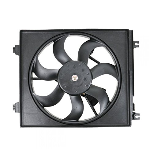 Passenger Side A/C Condenser Cooling Fan Assembly for 04-09 Spectra 2.0L - Kia Spectra Radiator Fan