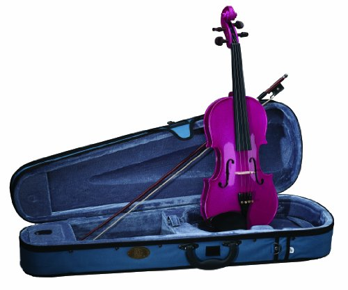 Stentor 1401PK-4/4 Harlequin Series Pink Violin Outfit by Stentor