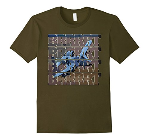 Mens A-10 Warthog BRRRRT CAS Aircraft T-Shirt XL Olive (A10 Usaf Warthog)