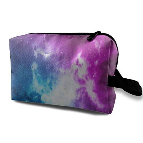 Makeup Bag Space Nebula Cloud Star Portable Travel Multifunction Beauty Bags Great Organizer For ()