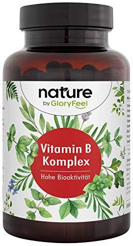 Vitamin B Komplex Bio-Aktiv - 200 vegane Kapseln (7 Monate) - Besonders hochdosiert (10-fach)- Alle 8 B-Vitamine in Bio-Aktiven Formen - Ohne Zusätze, Laborgeprüfte Herstellung in Deutschland