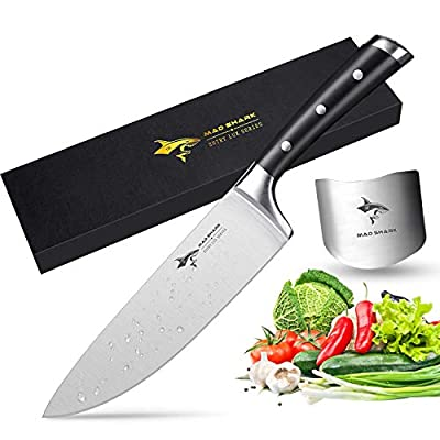 MAD SHARK Kitchen Knife with Stainless Steel Razor Sharp Blade and Ergonomic Handle,Ultra Sharp, Best Choice for Home Kitchen and Restaurant