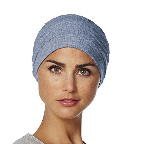 new products 2967f 56808 Copricapo in cotone chemoterapia Vitale blu chiaro