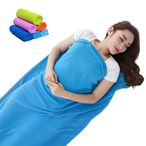 Lightweight Soft Travel Sheet Polar Fleece Warm Sleeping Bag Liner Zipper Closure (Pink) ()