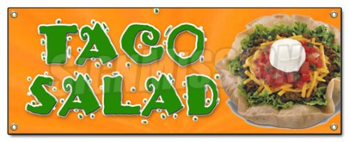 (TACO SALAD BANNER SIGN mexican food restaurant sign )