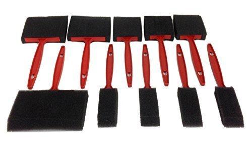 Foam Brush Paint and Varnish Set 10 Pc iQtools 73146 by EDMBG by EDMBG