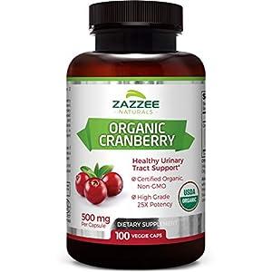 Gut Health Shop 41bOh2P-nGL._SS300_ Zazzee USDA Organic Cranberry Extract, 12,500 mg Strength, 100 Vegan Capsules, USDA Certified Organic, Potent 25:1…