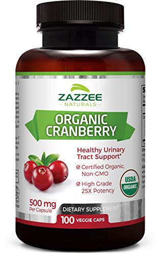 - USDA Organic Cranberry Extract | 12,500 mg Strength | 100 Veggie Caps | USDA Certified Organic | Potent 25:1 Extract | Made from Fresh Whole Organic Cranberries | All-Natural, Vegan, and Non-GMO