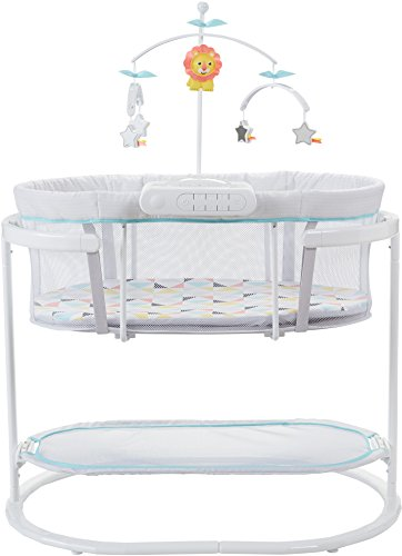 41bOh2f3NZL - Fisher-Price Soothing Motions Bassinet, Windmill