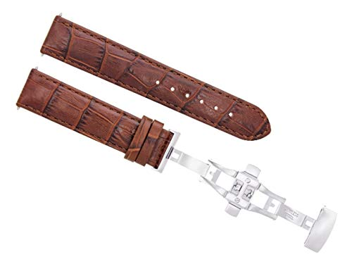 22MM Leather Watch Strap Band for BAUME Mercier CLASSIMA 8692, 8733 L/Brown T/Q #7