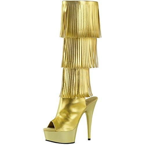Heels-Perfect - Plataforma Mujer Gold (Gold)