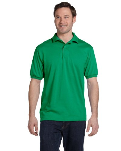 Stedman By Hanes Blended Jersey Sport Shirt, Kelly , XXX-Large - Jersey Shirt Knit Sport Blended