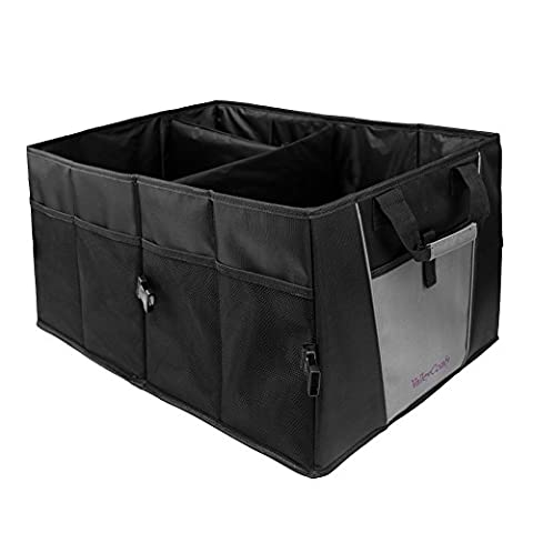 Car Trunk Organizer With Rope Handles,Compartment Board Foldable Great For Home,Car, SUV, Truck(Strong 1680D (Sub Cargo Organizer)