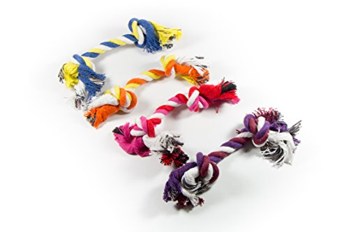 Puppy Rope Toys for Small Dogs | Ideal for Entertainment and High Active Puppies | Puppy Teething Toys | Knots Dog Toy for Smart Newborn Pet | Doggy Interactive Chew Mini Dental Pack of 4