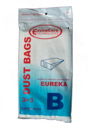 3 Eureka B Allergy Canister Vacuum Bags 1700 3700, Powerteam Series Vacuum Cleaners, 52329, 52329A-6, 52329-12, 54922-10, 1700 and 3700, 1780A Vacuum Bags 3 Filter