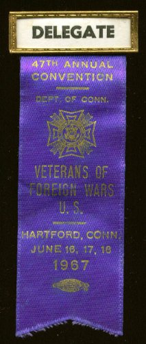 47th VFW Convention Hartford CT 1967 delegate pin ()