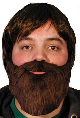 [Brown Beard and Mustache] (Brown Mustache And Beard Costume)