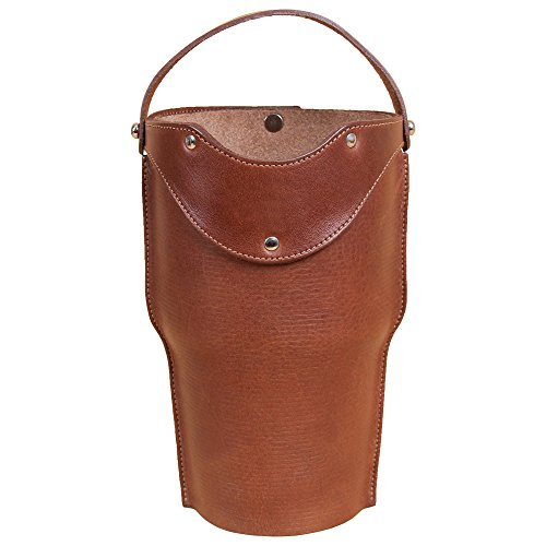 Tumbler Sleeve Holder fits Yeti Rambler 30 oz Cup Handle Full Grain Leather USA