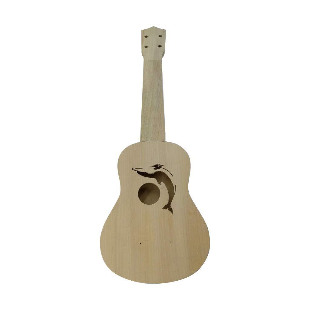 IEasⓄn _Home Kitchen,Ukulele DIY-Ukulele Hawaii Guitar DIY Kit Wooden Musical Instrument Beginner Kids Gift 21 inches (Multicolor -C)
