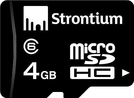 4 GB Tarjeta de Memoria Micro SDHC Class-6 de estroncio ...