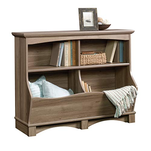 Sauder 420327 Harbor View Bin Bookcase, L: 43.15' x W: 15.51' x H: 33.47', Salt Oak