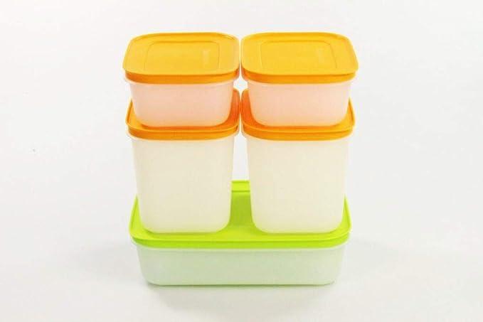 Tupperware Hielo Cristal 1,0 l + 1,1 L (2) + 450 ml (2) Congelador ...