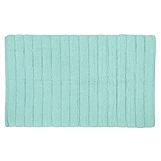 "DII Cotton Ultra Absorbent Soft Luxury Spa Ribbed Bath Mat or Rug Place in Front of Shower, Vanity, Bath Tub, Sink, and Toilet 17x24"" Mint"
