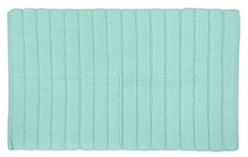 """DII Cotton Ultra Absorbent Soft Luxury Spa Ribbed Bath Mat or Rug Place in Front of Shower, Vanity, Bath Tub, Sink, and Toilet 17x24"""" Mint"""