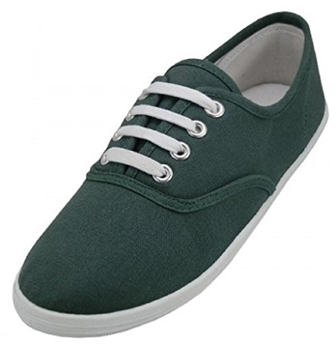 Shoes 18 Womens Canvas Shoes Lace up Sneakers 324 Hunter Green 7