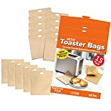 ekSel Toaster Bags Reusable Non-stick Gluten Free, FDA Approved, Perfect for Grilled Cheese Sandwiches, Chicken, Nuggets, Garlic Toasts FDA Approved BPA free Pack of 15