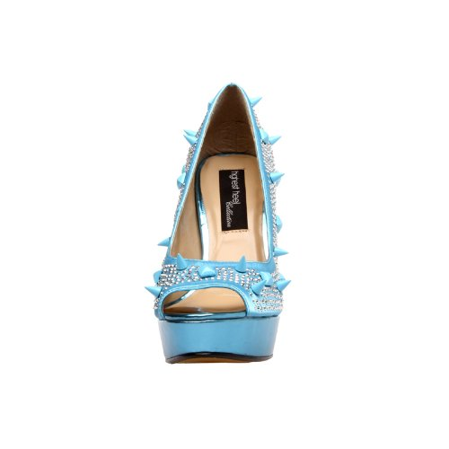 Highest Foxy Turquoise Women's Satin Heel The Pump 101 t4xqwwdC