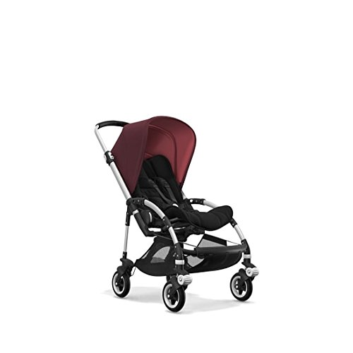 Bugaboo Bee5 Complete Stroller with Aluminum Frame with Black Seat Fabric and Red Melange Sun ()