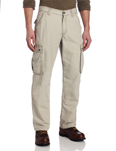 Carhartt Men's Rugged Cargo Pant Relaxed Fit,Tan,33W x 34L - Tan Tractors