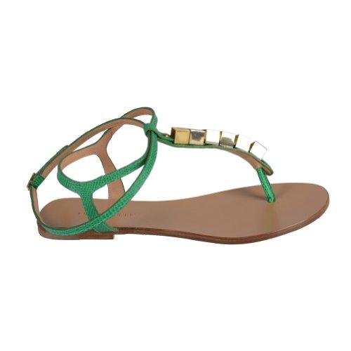 Dsquared Womens Green Wrap Around Sandali Con Cinturino Alla Caviglia Verde