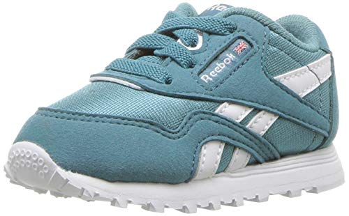 Infant White Footwear - Reebok Unisex Adult's Boys' Classic Nylon Sneaker, Mineral Mist/White, 7 M US Infant