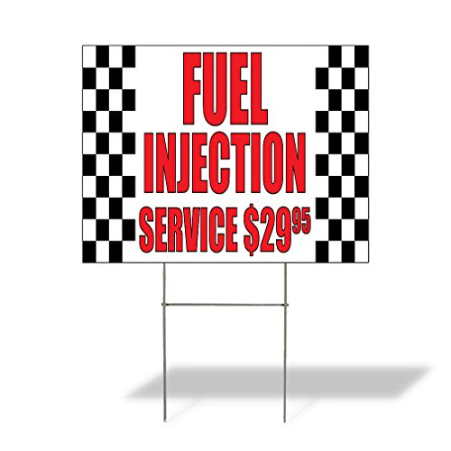 Plastic Weatherproof Yard Sign Fuel Injection Service $2995#1 Auto Repairs White Auto for Sale Sign Multiple Quantities Available 18inx12in One Side Print One - Vintage Fuel Injection