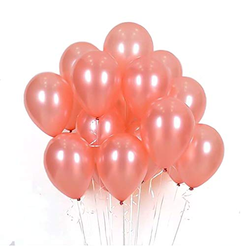 AZOWA Rose Gold Latex Balloons 12 inch Party Balloons Pack of 100 for Birthday Party Baby Shower Wedding Anniversary Celebration