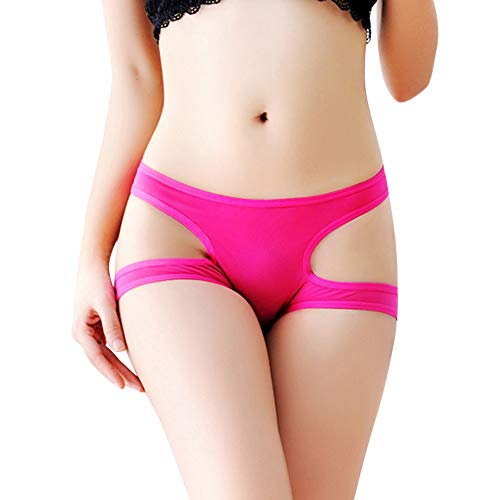 (Sinwo Sexy Underwear Women Thong Bragas Panties Thong Word Pants Ladies Briefs (Hot Red))