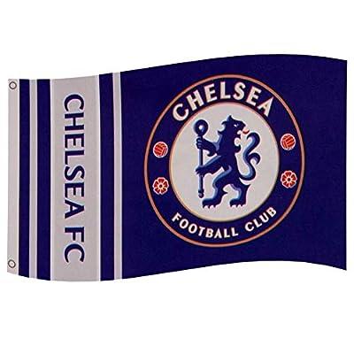 Chelsea FC Wordmark Stripes Flag
