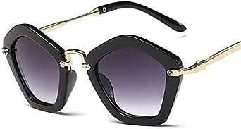 نظارات شمسية معدنية ذات شكل سداسي غير منتظم للأطفال نظارات شمسية عصرية للشاطئ البرية